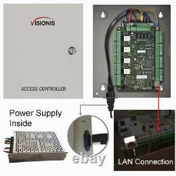 Contrôle D'accès À Quatre Portes Avec Logiciel Maglock Time Assistance Contrôleur Tcp/ip