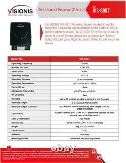 Contrôle D'accès De Deux Portes Visionis Avec Télécommande De Récepteur Sans Fil Maglock 300lbs