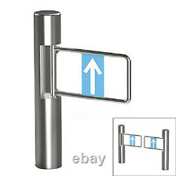 Contrôle D'accès Semi-auto Cylinder Swing Gate Safety Door Turnstile 304 Inoxydable