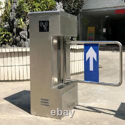 Contrôle D'accès Semi-auto Half Height Swing Gate Tourniquet Porte 304 Inoxydable