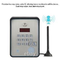 Contrôleur D'accès D'interphone Audio D'alarme Gsm Pour Porte D'entrée De Porte D'accueil