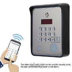 DC 12v Metal Gsm Interphone Audio Pour Système De Contrôle D'accès De Porte Apartment Gate