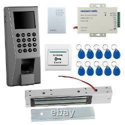 Empreinte Digitale D'accès De Porte Rfid Reader Keypad Entry Exit Control Kit Magnetic Lock