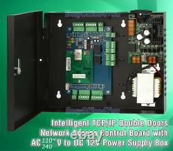 Entrypro Two Door Tcp/ip Access Controller + Boîtier Verrouilleux + Psu + Logiciel