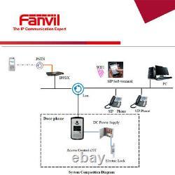 Fanvil I20s Sip Door Phone Access Control Appel / Code / Rfid Openvpn Poe