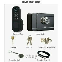 Fingerprint Smart Door Lock Bluetooth Wireless Access Control Lock 13.56mhz