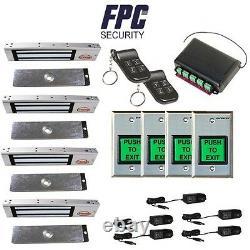 Fpc-5011 4 Portes Contrôle D'accès Porte De Sortie 300lbs Kit De Verrouillage Électromagnétique