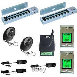 Fpc-5014 Deux Portes Access Control Outswinging Door 600lb Electromagnetic Lock Kit