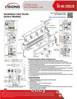 Fpc-5018 1 Porte Access Control Outswinging Porte 1200lbs Kit De Verrouillage Électromagnétique
