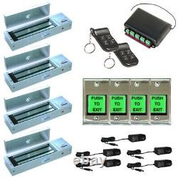 Fpc-5023 Four Door Access Control System Outswing 1200lbs Maglock With Remotes