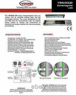 Fpc-5052 Une Porte Contrôle D'accès Porte Oscillante 600lbs Kit De Verrouillage Électromagnétique
