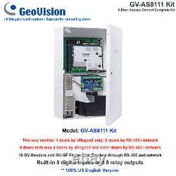 Geovision Gv-as8111 Kit De Contrôle D'accès 8 Portes Kit Complet/16 Gv-readers/rs-485