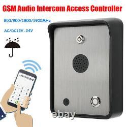 Gsm Audio Voice Intercom Système De Contrôle D'accès D'entrée De Porte Simple Contrôleur Accueil