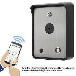 Interphone Audio Voix Gsm À Deux Voies Pour Système De Contrôle D'accès D'entrée De Porte Étanche