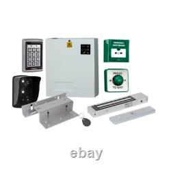 Kit Complet Complet De Contrôle D'accès En Métal Keypad Electric Magnetic Door Lock Kit 3