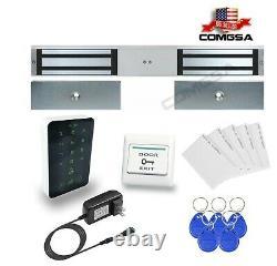 Kit Contrôle D'accès, Serrure Magnétique Double 600lbs, Maglock Pour Porte D'entrée USA
