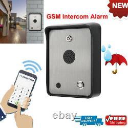 Kit D'alarme Audio Intercom Gsm Sans Fil Pour Système De Contrôle D'accès De Porte Étanche