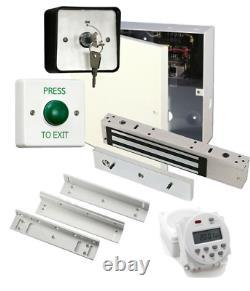Kit Simple D'entrée De Porte Maglock, Psu, Horloge, Maglock, Minuterie De Verrouillage, Interrupteur De Sortie Z&l