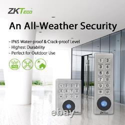 Kit Système De Contrôle D'accès De Porte Zkteco Protection De L'eau Lourde, Entrée De Porte Zk