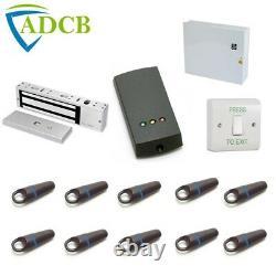 Paxton Compact Access Control Door Kit 10 Proximité Fobs Maglock Doorrelease Psu
