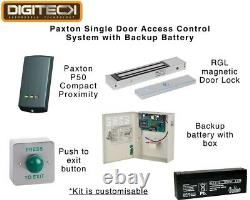 Paxton Single Door Access Control System With Backup Battery Proximity Reader Fob