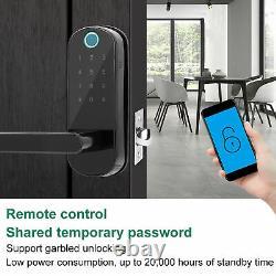 Porte D'empreintes Digitales Verrouillage Mot De Passe Key Card Mobile App Déverrouillage Contrôle D'accès À La Maison