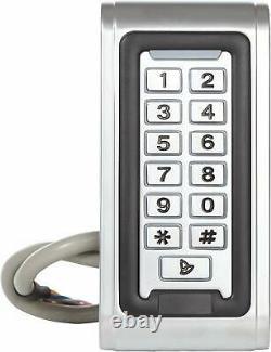 Porte En Métal Rfid Lecteur Contrôle D'accès Système De Sécurité Kit Code Clavier Carte D'identité