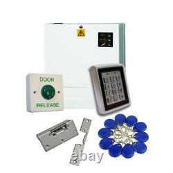 Proximité Rfid Keypad Access Control Door Entry Kit With Fobs Psu & Lock Release