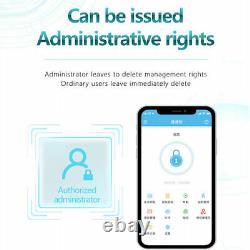 Serrure De Porte D'empreintes Digitales App Mot De Passe Carte IC Déverrouillage Nfc Contrôle D'accès De Sécurité