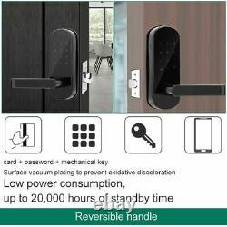 Smart Door Lock Bt App Rfid Card Mot De Passe Touchez La Touche Touche De Contrôle D'accès De Porte