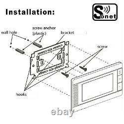 Sonet Villa Intercom 7 LCD Couleur Système D'entrée Vidéo Avec Contrôle D'accès