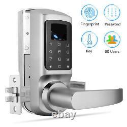 Système Biométrique De Contrôle D'accès De Verrouillage De Verrouillage De Porte D'empreinte Digitale Pour La Sécurité À La Maison