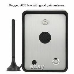 Système D'interphone Audio D'alarme Gsm Pour Contrôleur D'accès D'ouverture De Porte Étanche
