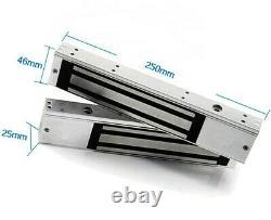 Système De Contrôle D'accès À La Porte, 2 Serrure Magnétique Électrique 600lb, 4 Télécommandes