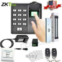 Système De Contrôle D'accès À La Porte Biometric Fingerprint Zkteco, Magnetic Lock, 2 Remote