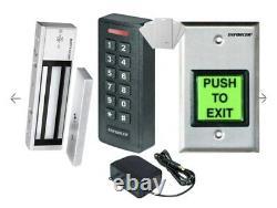 Système De Contrôle D'accès À La Porte De La Carte Rfid+mot De Passe Et Étanche À L'eau+porte Verrouillage Magnétique+card