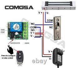 Système De Contrôle D'accès De Porte, Serrure Magnétique Électrique 600lb, 4 Télécommandes Etats-unis