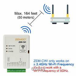 Système Intelligent De Contrôle D'accès À La Porte Wi-fi Zemgo + App + Clavier/lecteur + Verrouillage De Frappe