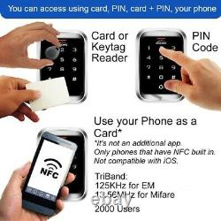 Système Intelligent De Contrôle D'accès À La Porte Wi-fi Zemgo Avec Maglock Porte Extérieure + Clavier