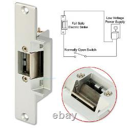 Tcp/ip 4 Door Access Control System Kit Strike No Lock Ac220v Alimentation Électrique