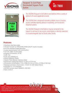Visionis 5210 Smartphone Access Control Inswinging Door 600lbs Serrure Magnétique