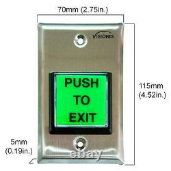 Visionis Fpc-5194 Kit De Contrôle D'accès D'une Porte Verrouillage Extérieur Magnétique 800lbs