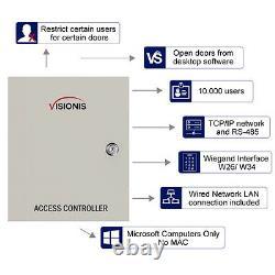 Visionis Vs-axess-4etl Contrôleur De Panneau De Commande D'accès Réseau Quatre Portes Tcp/ip