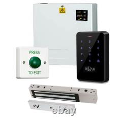 Weatherproof 2000 Code Access Control Door Entry Kit + Alimentation Et Maglock