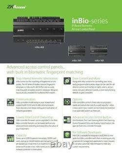 Zkteco Inbio 460 Access Control Zk 4 Porte Multifonction Door Board Tcpip Rs485